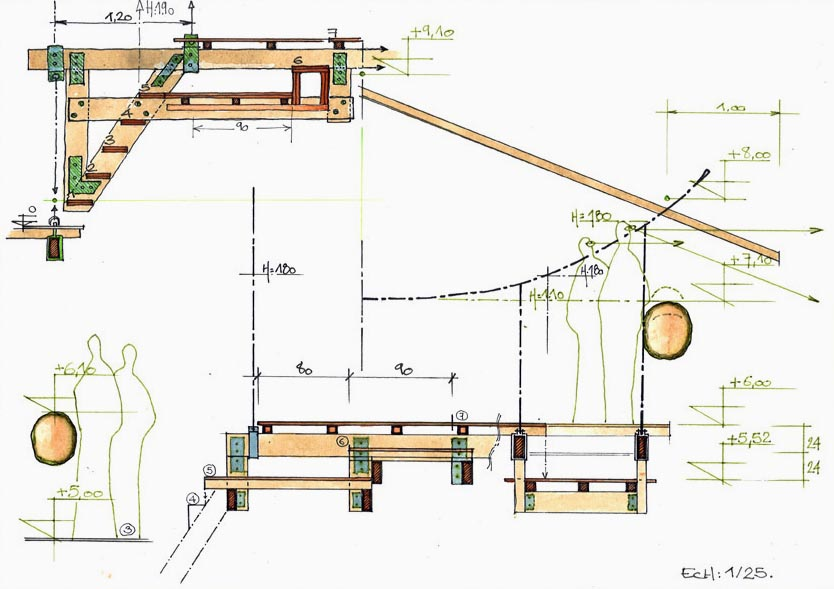 tree house floor plans for adults. Tree House Set On Wooden Consoles (lateral View) Floor Plans For Adults